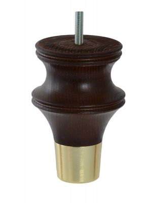 Bianca Dark Brown Furniture legs with Brushed Brass Cups