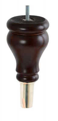 Claudette Classic Dark Brown Furniture Leg
